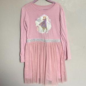 Disney Frozen Anna Pink Long Sleeve TuTu Dress